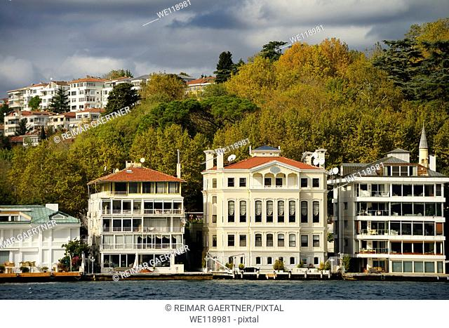 Apartments on the Bosphorus Strait in Istinye Mahalle Istanbul Turkey