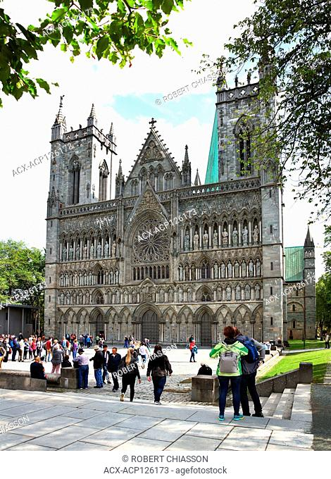 Built from 1070 in Gothic style of architecture, the Nidaros Cathedral (Nidaros Domkirke) is located in heart of Trondheim, Norway