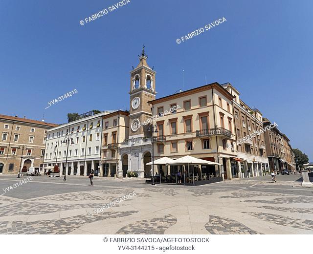 Piazza Tre Martiri, Rimini, Emilia Romagna, Italy