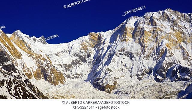 Annapurna I, Annapurna Range, Trek to Annapurna Base Camp, Annapurna Conservation Area, Himalaya, Nepal, Asia