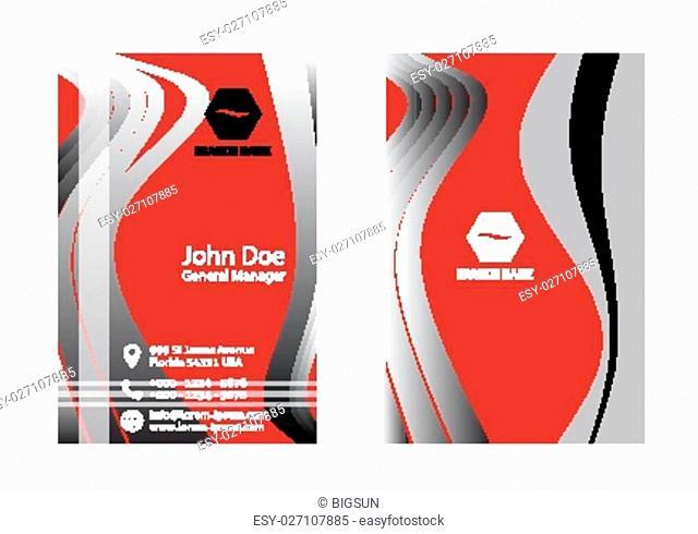 Vector business card