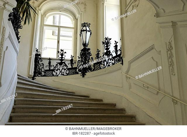 Neues Schloss New Castle Kittsee Burgenland Austria grand staircase
