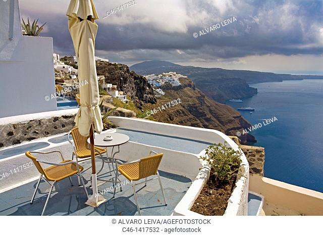 Village of Firostefani  Santorini, Cyclades Islads, Greece