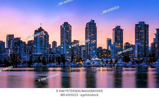 Skyline of Downtown, Vancouver , British Columbia, Canada