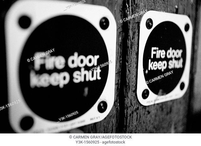 Fire door. London