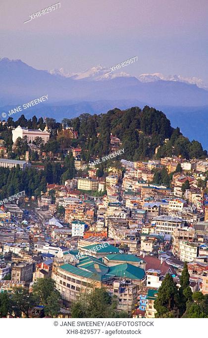 View of City center, Darjeeling, West Bengal, India