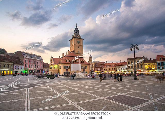 Romania, Transilvania, Brasow City, Sfatului Square, Old City Hall Bldg