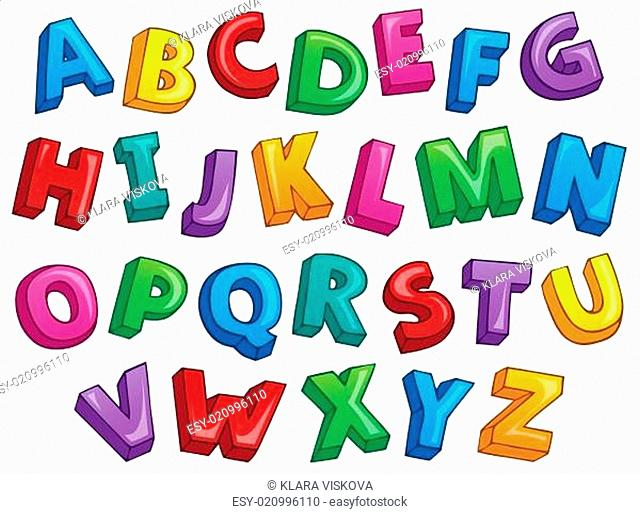 Image with alphabet theme 2