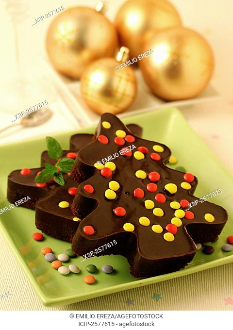 Christmas trees of chocolate