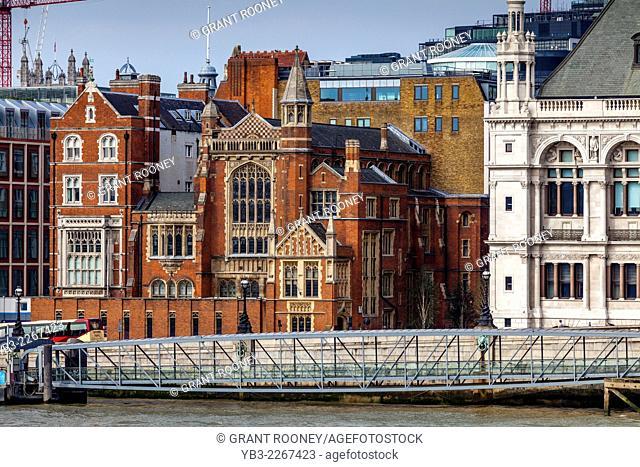 Riverside Buildings, Victoria Embankment, London, England