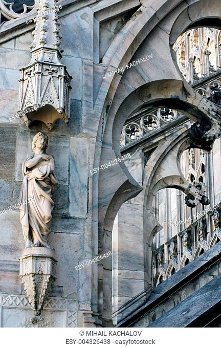 Fragment of Duomo Cathedral in Milan