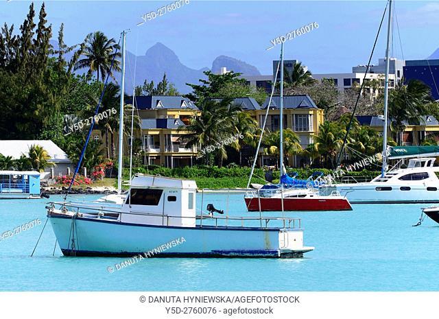 Africa, Mascarene, Mascarene Islands, Mascarenhas, Mauritius, Northern Mauritius, Rivière du Rempart District, Grand-Baie, Grand Bay, very popular resort