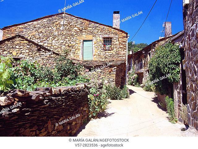 Traditional architecture. Valverde de los Arroyos, Guadalajara province, Castilla La Mancha, Spain