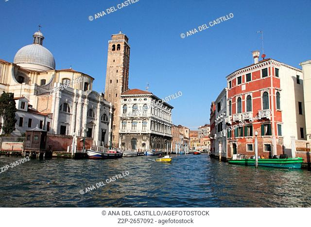 Palaces at Grand Canal Venice Italy