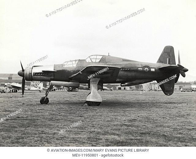 A Captured Luftwaffe Dornier Do-335A-12 Ofeil / Arrow Parked in RAF Livery As Flown by Test-Pilot Captain Eric Melrose 'Winkle' Brown, Cbe, Dsc, Afc, Fraes