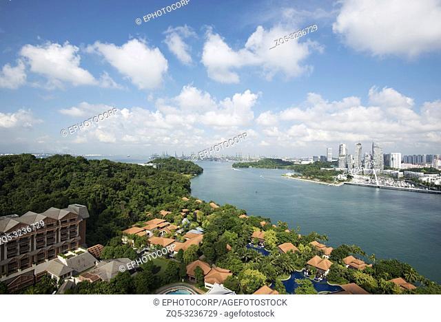 Cityscape, architecture, Sentosa island, Singapore
