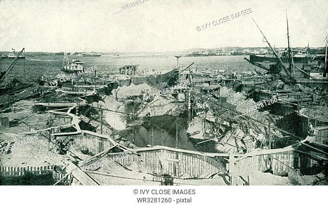 Wreck of Maine in Havana Harbor
