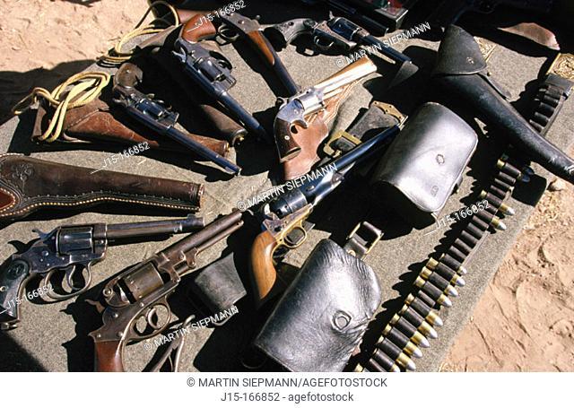 Revolvers. Tubac Presidio State Historic Park. Arizona. USA