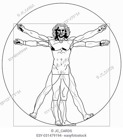 Proportion Face Leonardo Da Vinci Stock Photos And Images