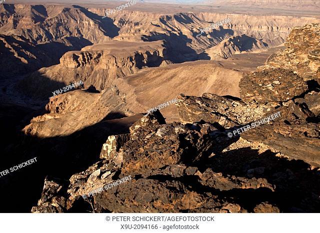 Fish River Canyon at, Ai-, Ais Richtersveld Transfrontier Park, Namibia, Africa