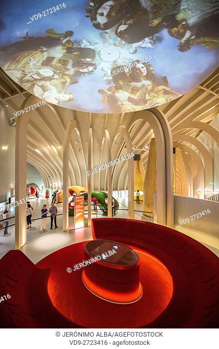 La Cité du Vin, Wine house museum, inside. Bordeaux, Gironde. Aquitaine France Europe