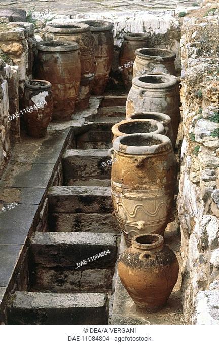 Greece - Crete - Knossos. Palace of Minos. Storage quarters