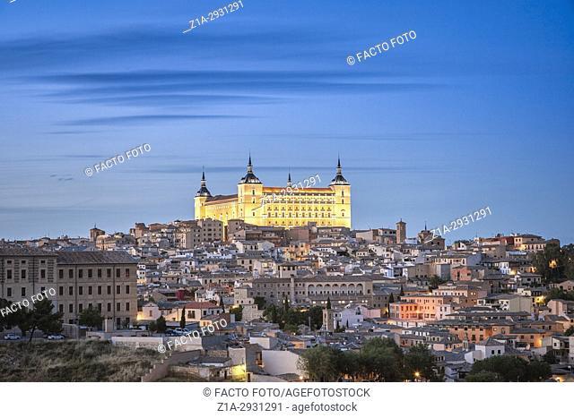 Alcazar of Toledo by. Toledo. Castile-La Mancha. Spain