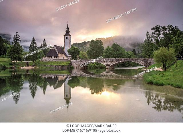 Sunrise at Lake Bohinj