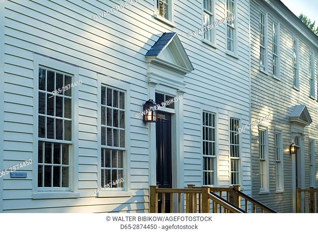 USA, New Hampshire, Portsmouth, traditional New England building, detail