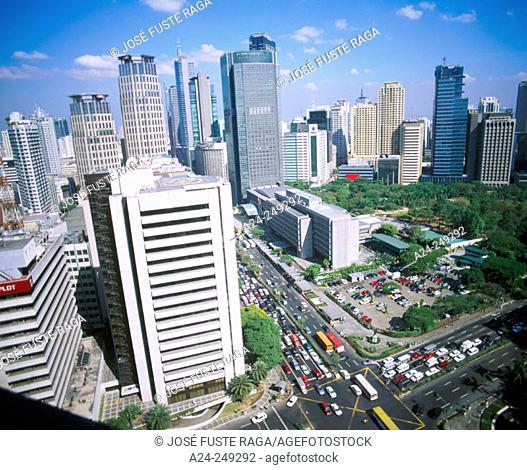 Ayala Triangle. Makati District. Manila. Philippines