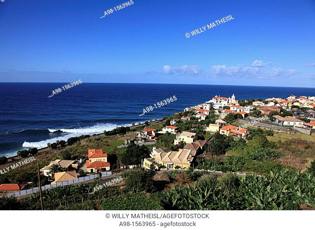 village Jardim do Mar at the Atlantic Ocean on the island Madeira, Portugal, Europe