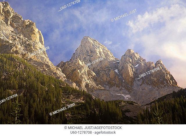 Grand Teton Mountain at Grand Teton National Park, Wyoming