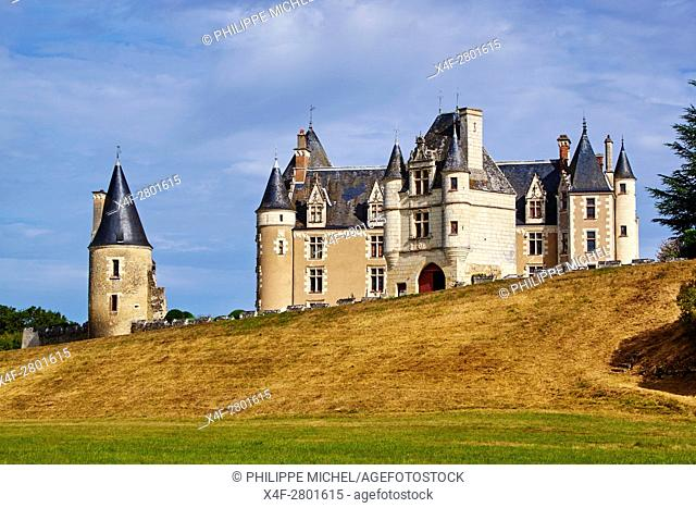 France, Indre-et-Loire (37), Cere-la-Ronde, Montpoupon castle, 13th - 15th century, Museum of hunting with hounds