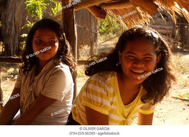 Different activities of Mangyan people, Abra de Ilog, Mindoro Province, Philippines