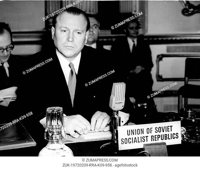 The meeting of the duce benito mussolini with the fhrer adolf may 13 1954 london england uk soviet ambassador jacob malik attends a meeting at the lancaster house trying to reach an agreement on control platinumwayz
