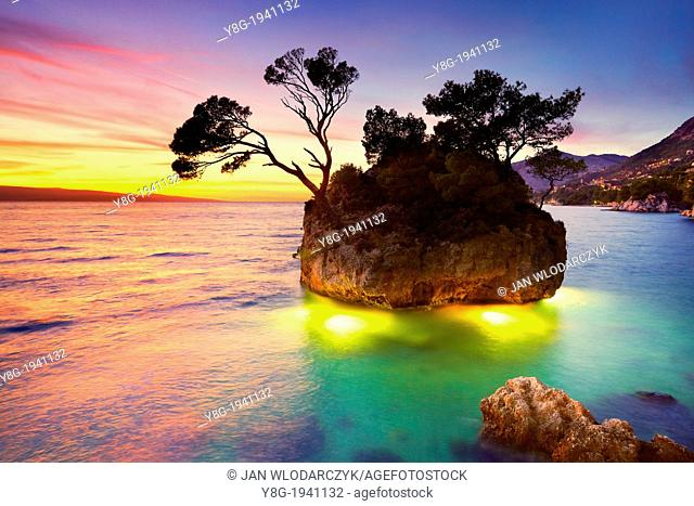 Croatia - Makarska Riviera Coast, landscape at sunset time, Dalmatia, Croatia