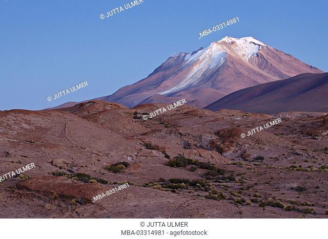 Bolivia, Los Lipez, Mirador Volcan Ollagüe, sundown