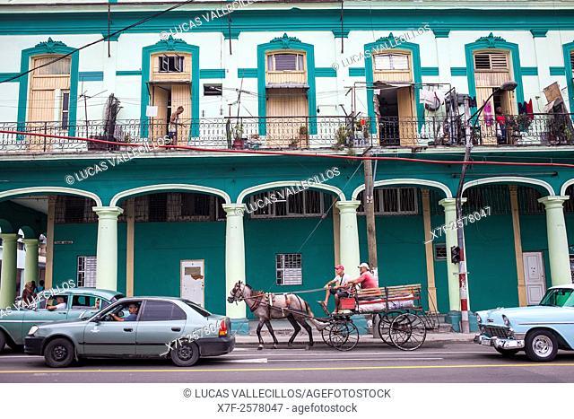 Street scene, in Padre Varela street, Centro Habana District, La Habana, Cuba