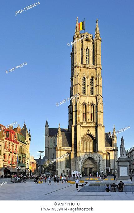 Sint-Baafsplein, Saint Bavo Cathedral, Sint-Baafs Cathedral, Ghent, Scheldeland, Leiestreek, Flanders, Belgium, Europe