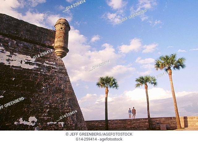 San Marcos Castle (c.1672). Saint Augustine. Florida. USA