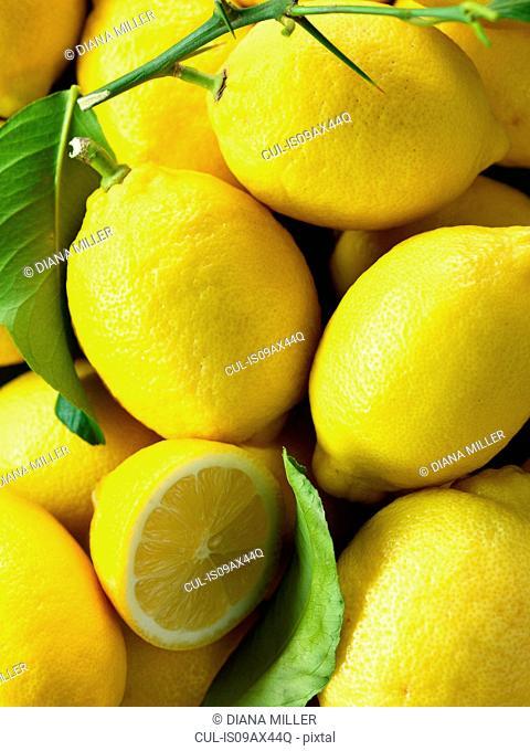 Lemons, full frame, close-up