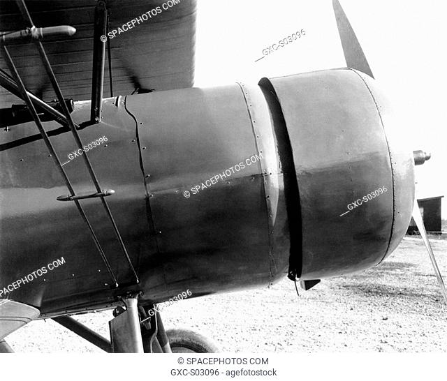 The NACA cowling as applied to a Curtiss AT-5A at the Langley Memorial Aeronautical Laboratory, October 1928
