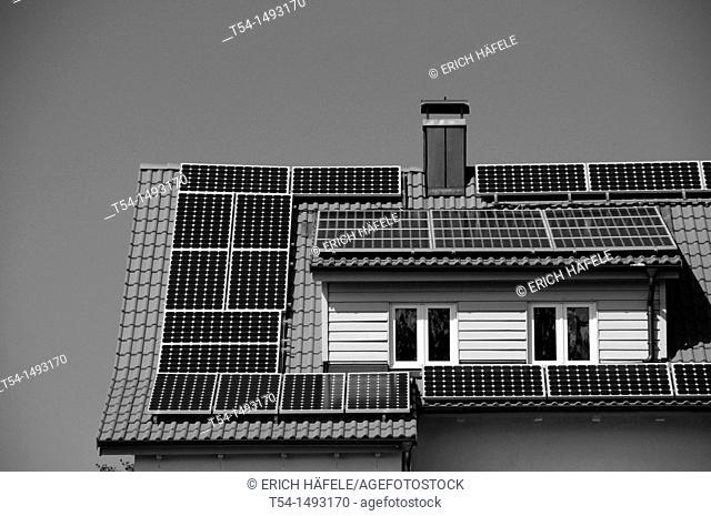 Solar cells on an old house