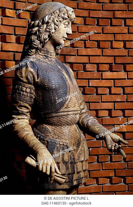 Galeazzo Maria Sforza (Fermo, 1444-London, 1476), Duke of Milan. Detail. Statue attributed to Giovanni Antonio Amadeo (1447-1522)