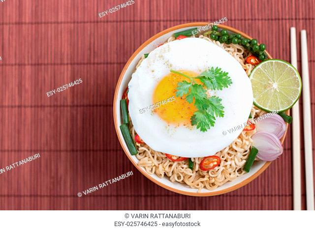 noodle food on top view