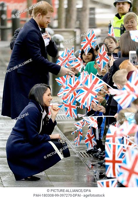 Prince Harry and Ms. Meghan Markle arrive at Millennium Point in Birminham, on March 8, 2018, to attend an event to celebrate International Women's Day Photo:...