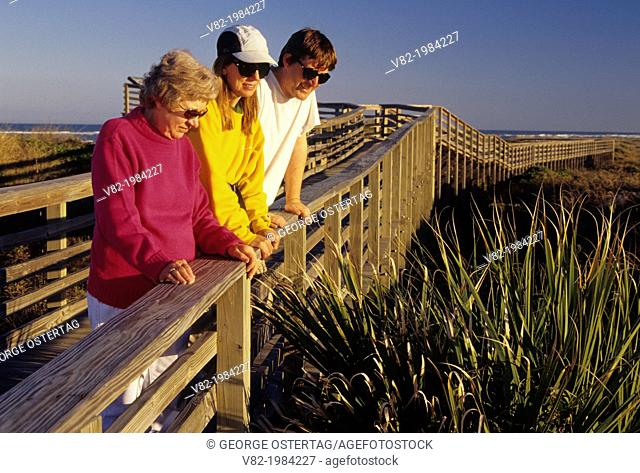 Beach boardwalk, Fort Matanzas National Monument, Florida