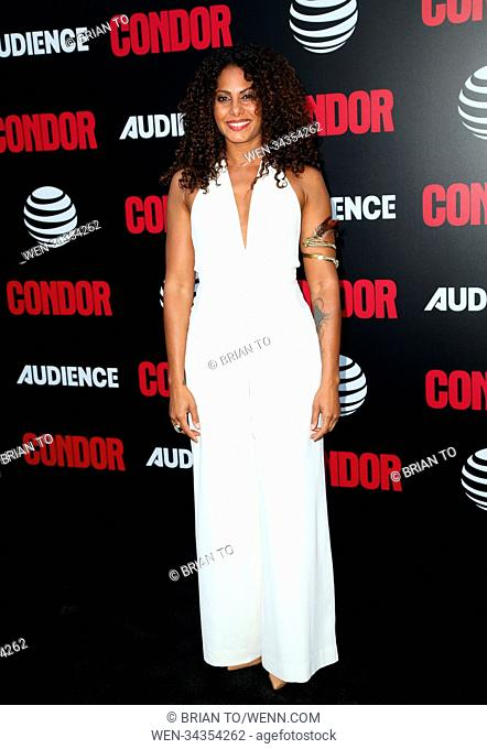 "Celebrities attend AT&T AUDIENCE Network's ""Condor"" premiere red carpet at NeueHouse Hollywood. Featuring: Christina Moses Where: Los Angeles, California"