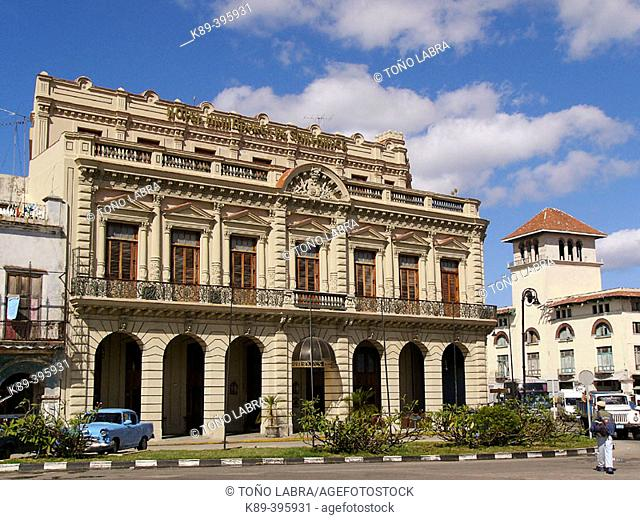 Shipowners of Santander old building, now a hotel. La Habana. Cuba