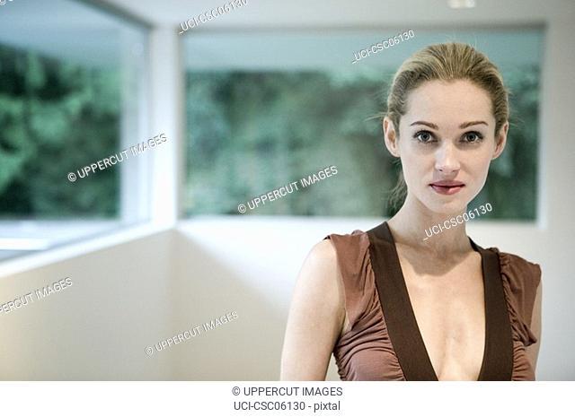 Woman standing in livingroom